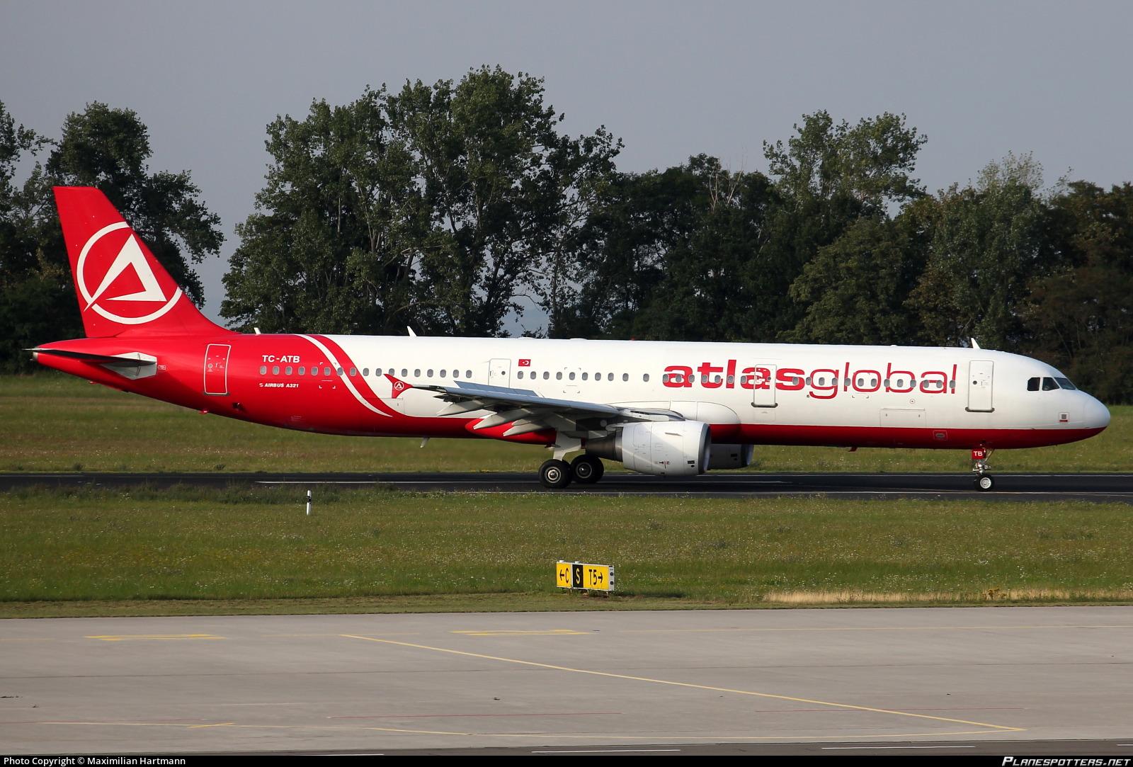 TC-ATB AtlasGlobal Airbus A321-211 photographed at Erfurt-Weimar (ERF / EDDE) by Maximilian Hartmann