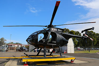 VH-MDE 0333E Blue Sky Helicopters Hughes 369 Sydney Kingsford Smith (SYD / YSSY)