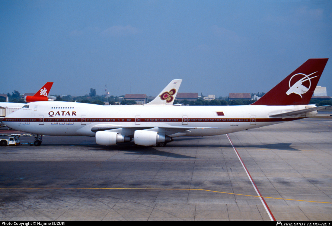 A7-ABK Qatar Airways Boeing 747SR-81 Photo by Hajime SUZUKI   ID 423864    Planespotters.net