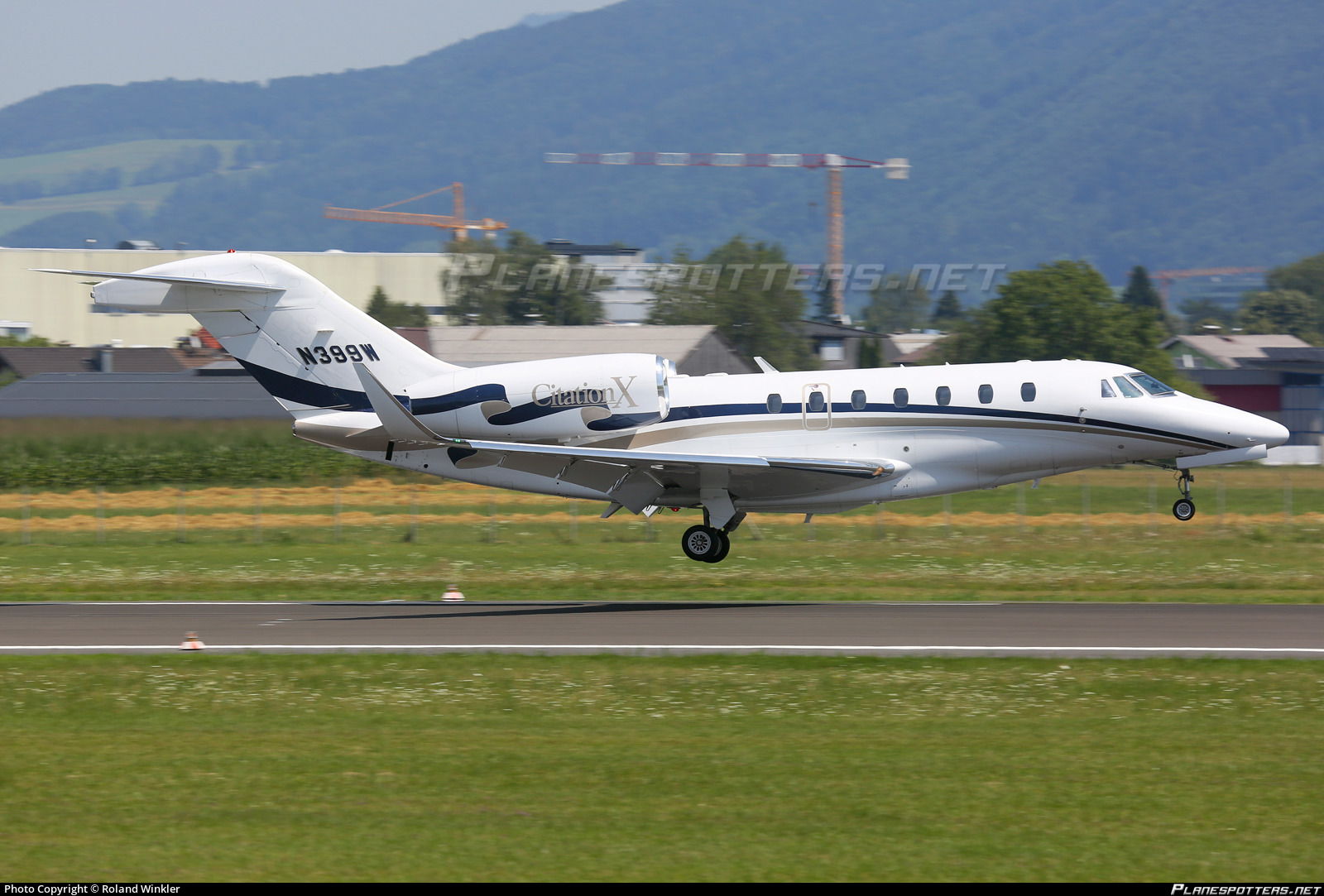 N399w Private Cessna 750 Citation X Photo By Roland Winkler Id
