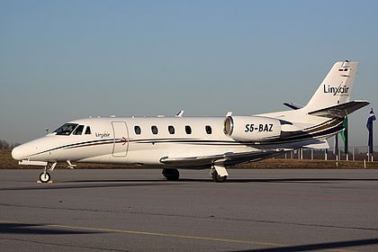 S5-BAZ Linxair Cessna 560XL Citation Excel Munich Franz Josef Strauss (MUC / EDDM)