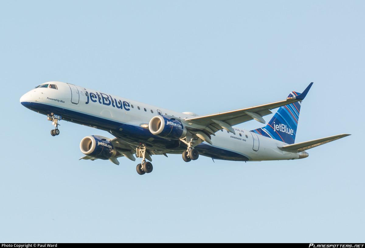 n368jb jetblue airways embraer erj 190ar erj 190 100 igw photo by paul ward id 714747 planespotters net n368jb jetblue airways embraer erj