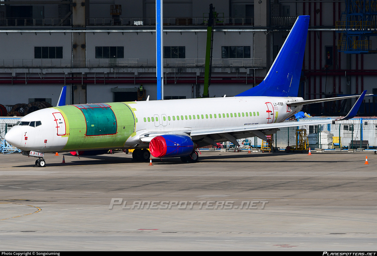 LY-FBB AviaAM Leasing Boeing 737-8F2(WL) photographed at Guangzhou Baiyun (CAN / ZGGG) by Songxiuming
