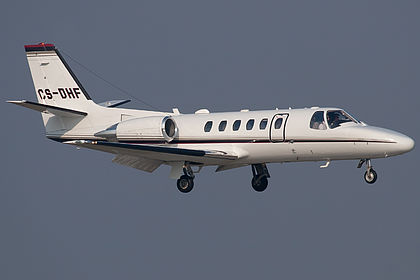 CS-DHF 550-1025 NetJets Europe Cessna 550B Citation Bravo Hamburg Fuhlsbuettel (HAM / EDDH)