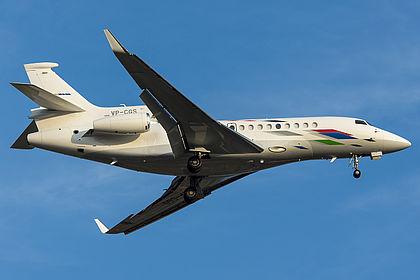 VP-CGS 210 Volkswagen Air Service Dassault Falcon 7X Barcelona El Prat (BCN / LEBL)