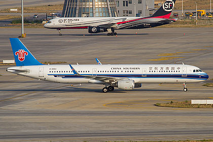 B-8993 7769 China Southern Airlines Airbus A321-211(WL) Kunming Changshui (KMG / ZPPP)