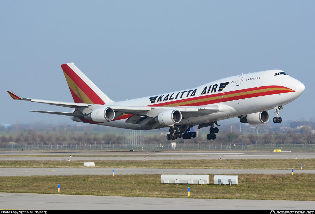 N741CK Kalitta Air Boeing 747-4H6(BCF) photographed at Leipzig / Halle (LEJ / EDDP) by M. Najberg