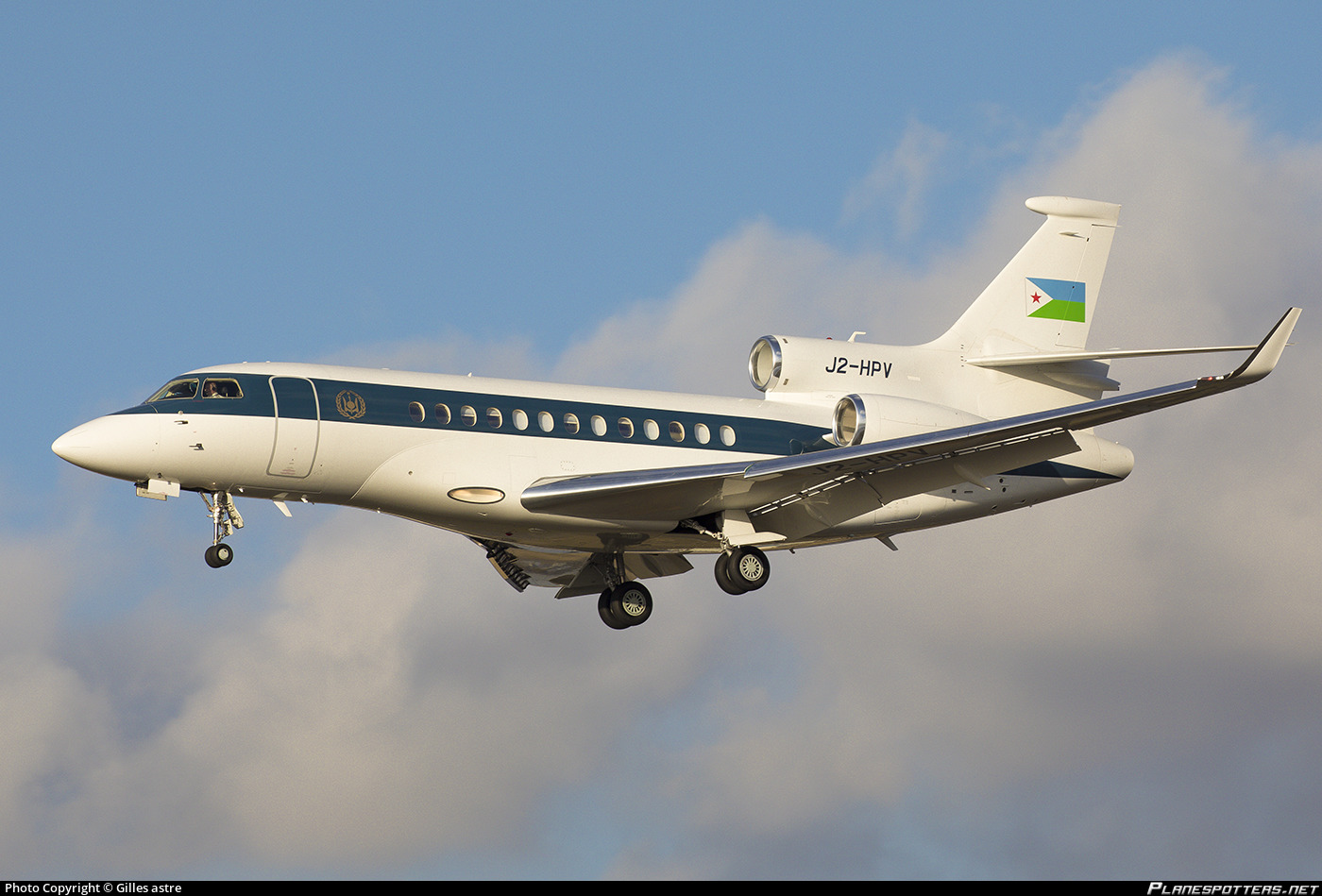 J2-HPV Djibouti Government Dassault Falcon 7X photographed at Paris Le Bourget (LBG / LFPB) by Gilles astre