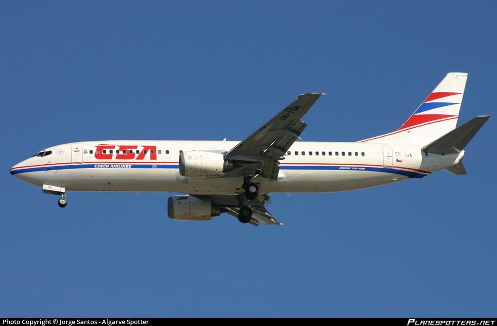 OK-YGA Czech Airlines (CSA) Boeing 737-4Q8 Photo by Jorge Santos - Algarve  Spotter | ID 013728 | Planespotters.net