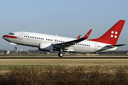 HB-JJA 34303 Privatair Boeing 737-7AK BBJ Amsterdam Schiphol (AMS / EHAM)