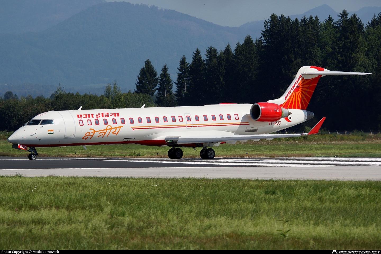 VT-RJC Air India Regional Bombardier CRJ-700 (CL-600-2C10) Photo by Matic  Lomovsek | ID 238849 | Planespotters.net