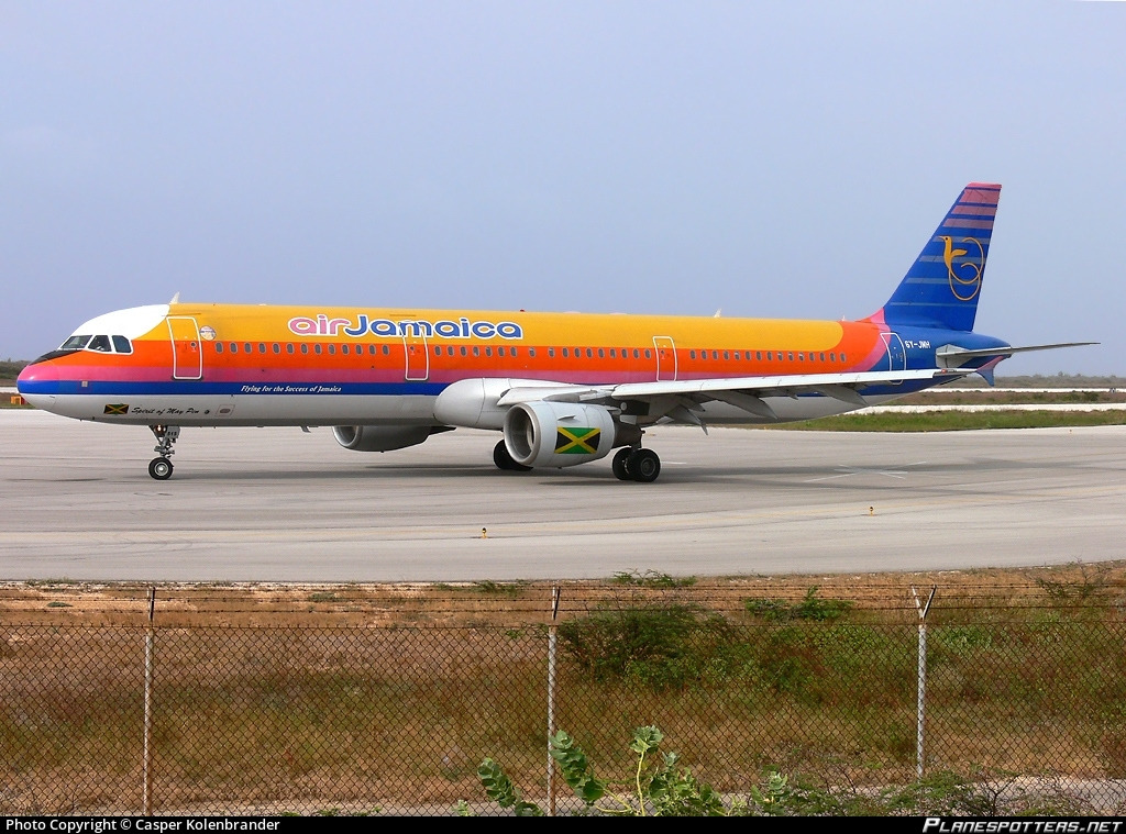 6Y-JMH Air Jamaica Airbus A321-211 photographed at Willemstad / Curacao Hato (CUR / TNCC) by Casper Kolenbrander