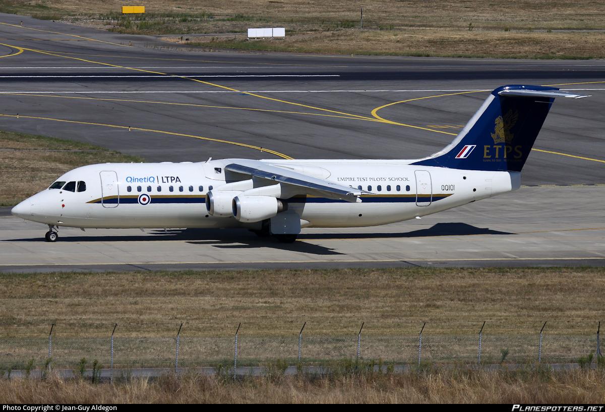 Qq101 Qinetiq British Aerospace Avro Rj100 Photo By Jean Guy Aldegon Id 410613 Planespotters Net