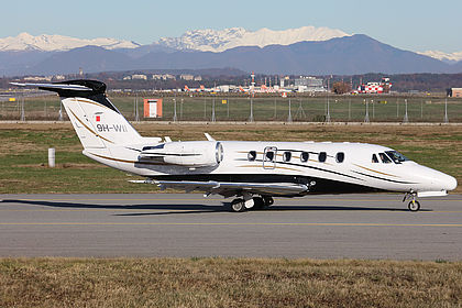9H-WII 650-7090 Private Cessna 650 Citation VII Milan Malpensa (MXP / LIMC)