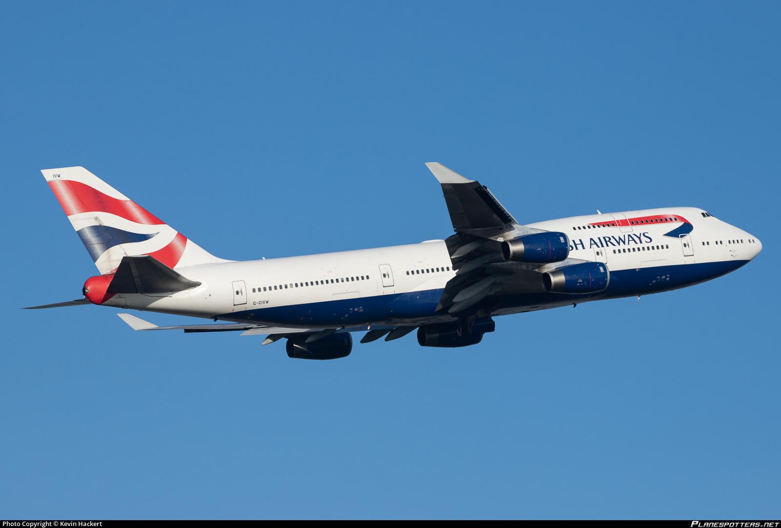 G-CIVW British Airways Boeing 747-436 Photo by Kevin Hackert | ID 1033958 | Planespotters.net