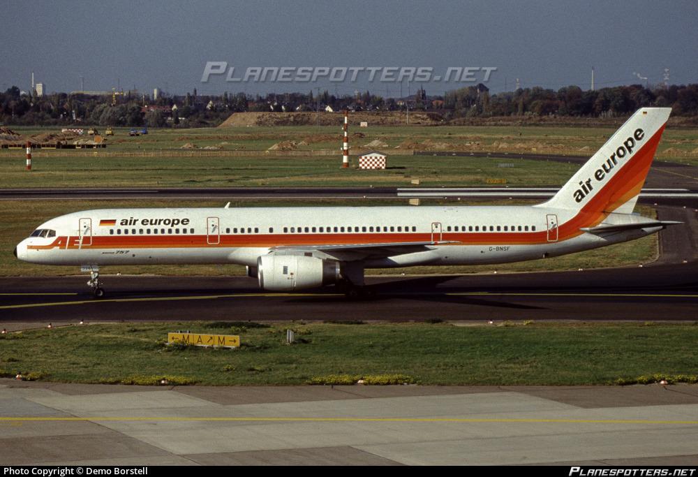 G-BNSF Air Europe Boeing 757-236 photographed at Dusseldorf Rhein-Ruhr (DUS / EDDL) by DeMo Bo
