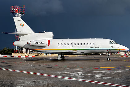 9G-EXE 241 Republic of Ghana Dassault Falcon 900EX Malta Luqa (MLA / LMML)