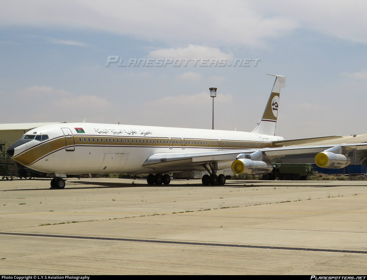 Libyan Arab Airlines 707 | Airliners - Gone but not ... |Libyan Airlines Cargo Boeing 707