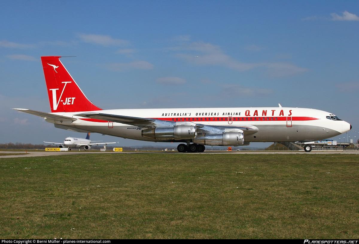 N707jt John Travolta Boeing 707 138b Photo By Berni Muller Planes International Com Id 251719 Planespotters Net