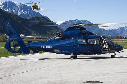 LX-HRU 6448 Private Eurocopter AS 365 N3 Dauphin Trento Mattarello (Gianni Caproni) (LIDT)