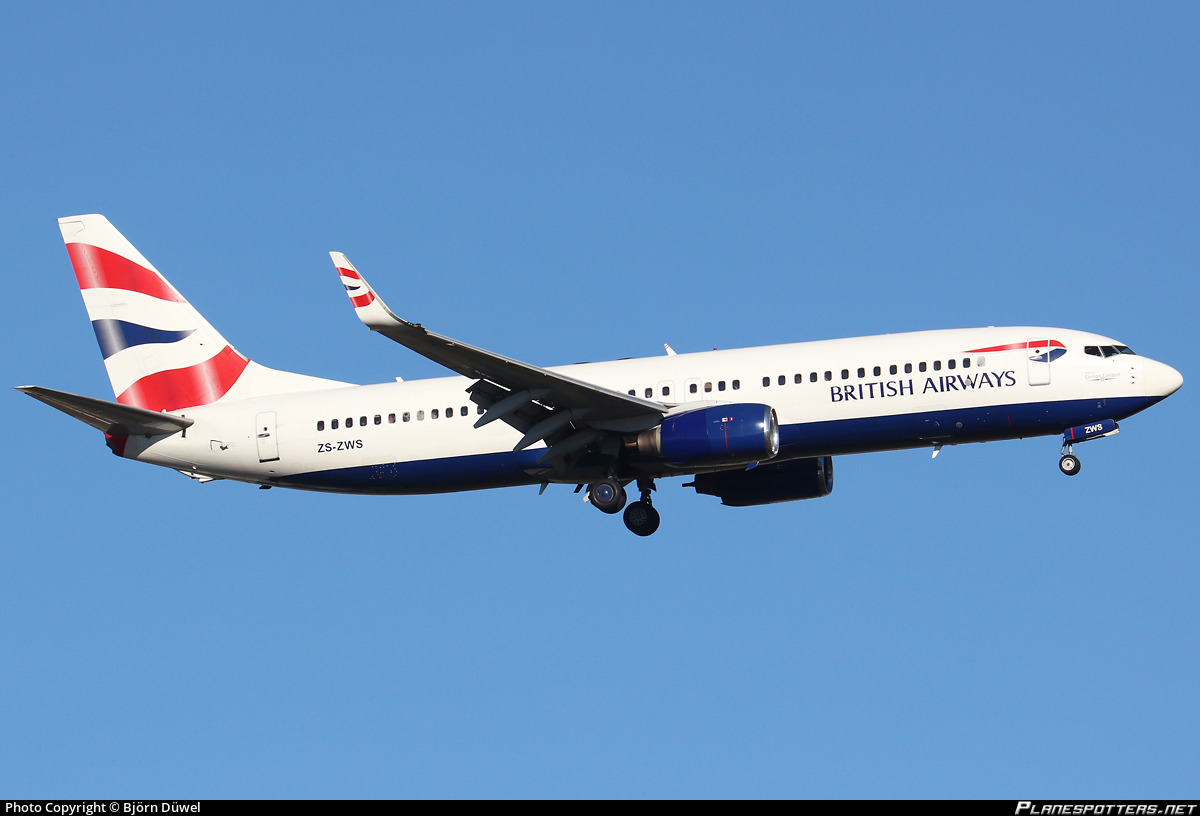 ZS-ZWS Comair Boeing 737-86N(WL) photographed at Johannesburg OR Tambo (JNB / FAOR) by Björn Düwel
