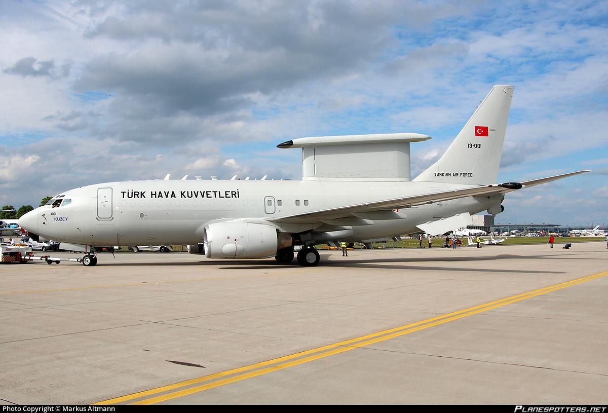 13-001 Turkish Air Force Boeing E-7T Peace Eagle (737-7ES) Photo ...