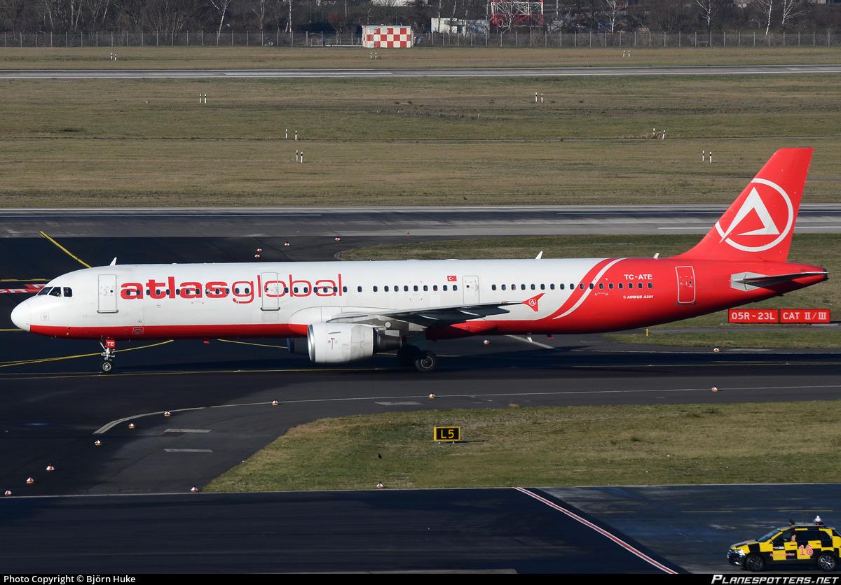 TC-ATE AtlasGlobal Airbus A321-211 photographed at Dusseldorf Rhein-Ruhr (DUS / EDDL) by Björn Huke