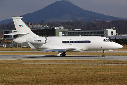 I-MOFI 213 Sirio Dassault Falcon 2000LX Salzburg W.A. Mozart (SZG / LOWS)