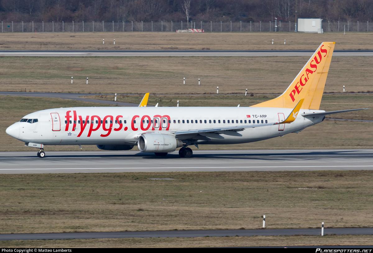 TC-ARP Pegasus Boeing 737-82R(WL) photographed at Dusseldorf Rhein-Ruhr (DUS / EDDL) by Matteo Lamberts