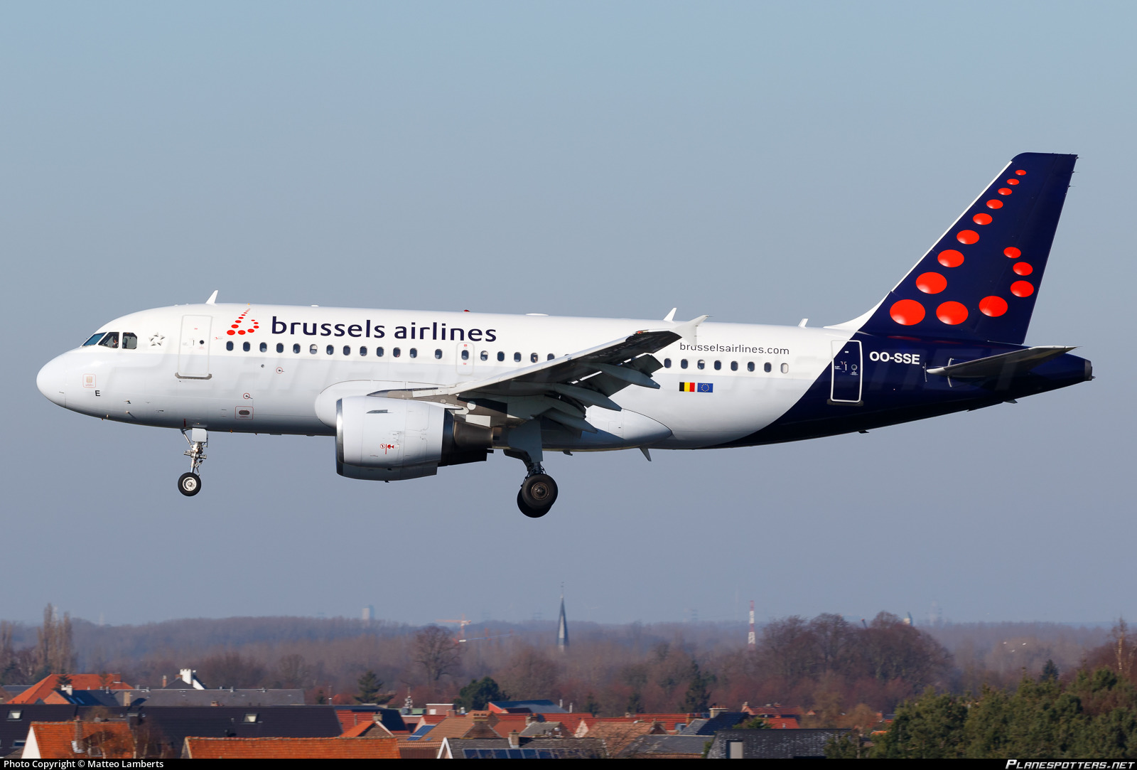 OO-SSE Brussels Airlines Airbus A319-111 photographed at Brussels National (Zaventem) (BRU / EBBR) by Matteo Lamberts