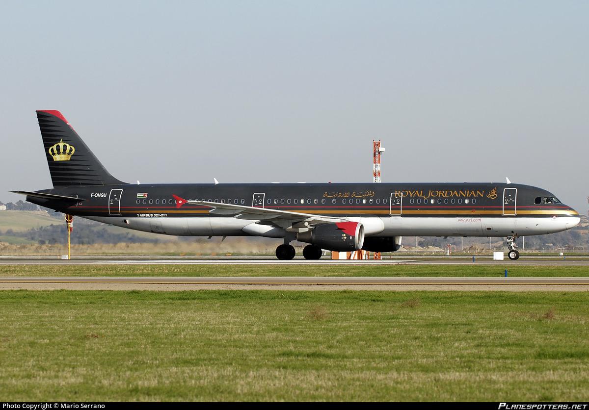 F-OHGU Royal Jordanian Airbus A321-211 photographed at Rome Fiumicino (Leonardo da Vinci) (FCO / LIRF) by Mario Serrano