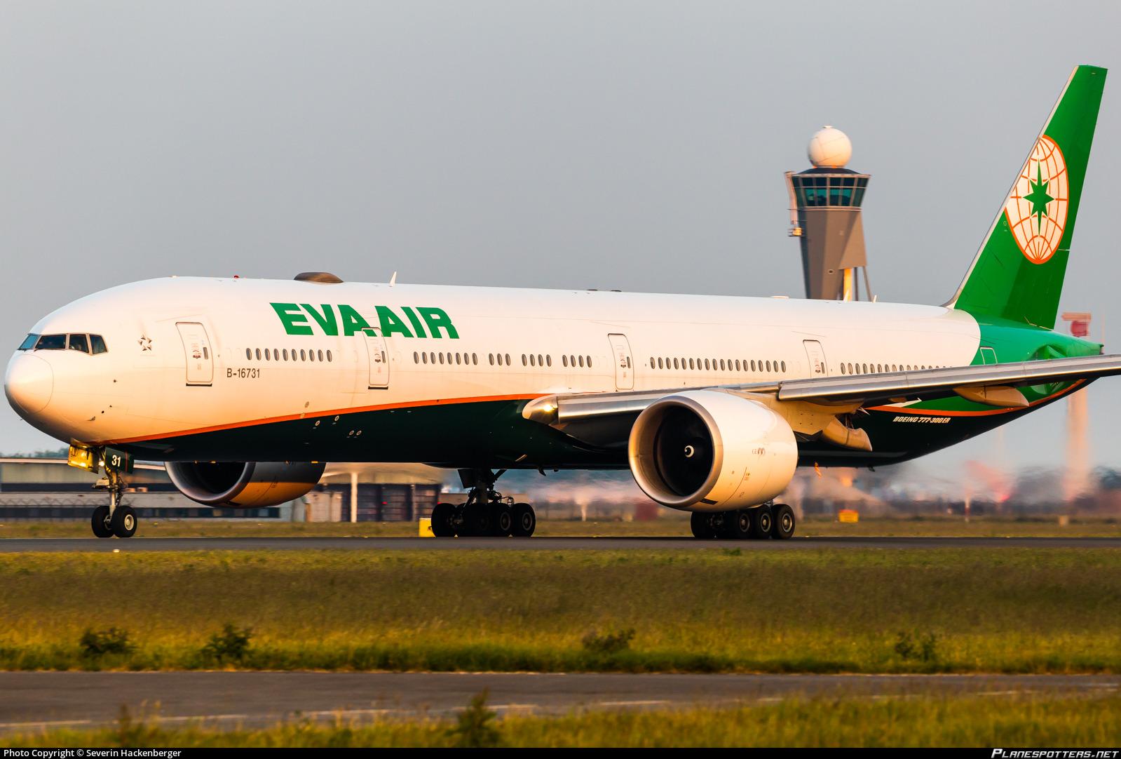 B-16731 EVA Airways Boeing 777-36N(ER) photographed at Amsterdam Schiphol (AMS / EHAM) by Severin Hackenberger