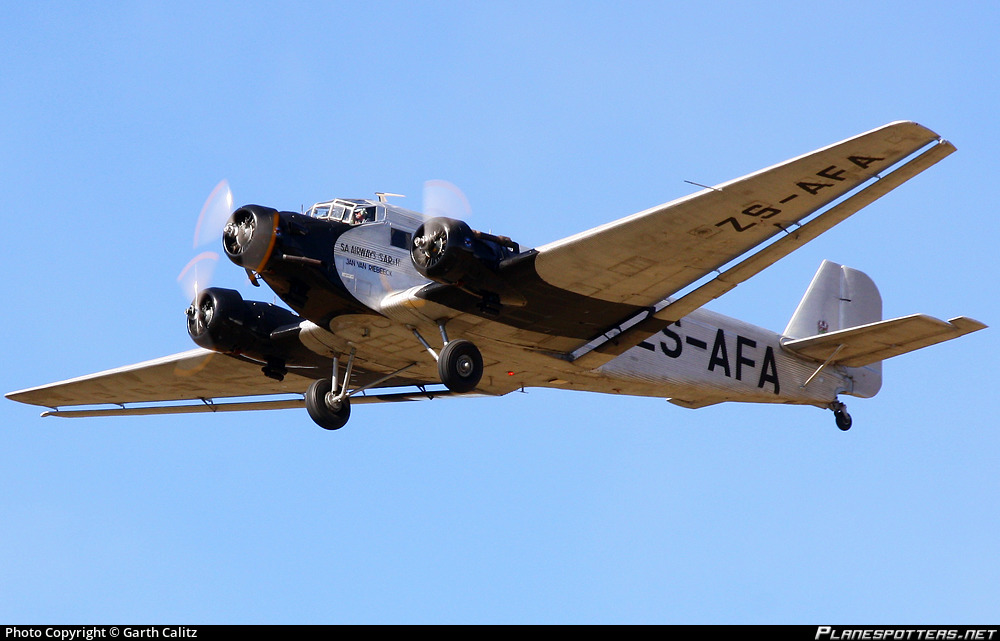 zs-afa-south-african-airways-junkers-ju-