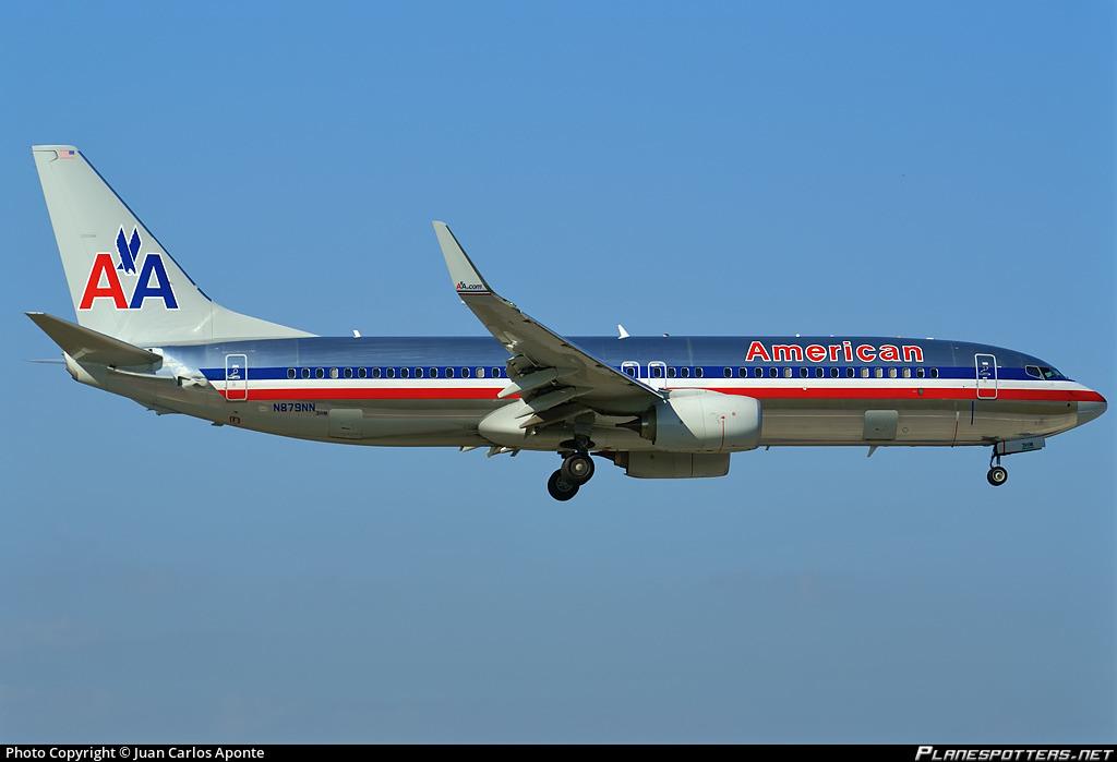 N879NN American Airlines Boeing 737-823(WL) Photo by Juan