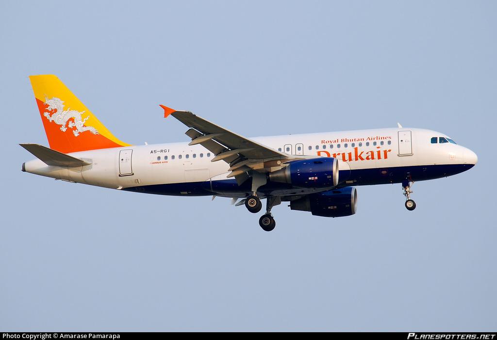 A5 Rgi Druk Air Royal Bhutan Airlines Airbus A319 115 Photo By