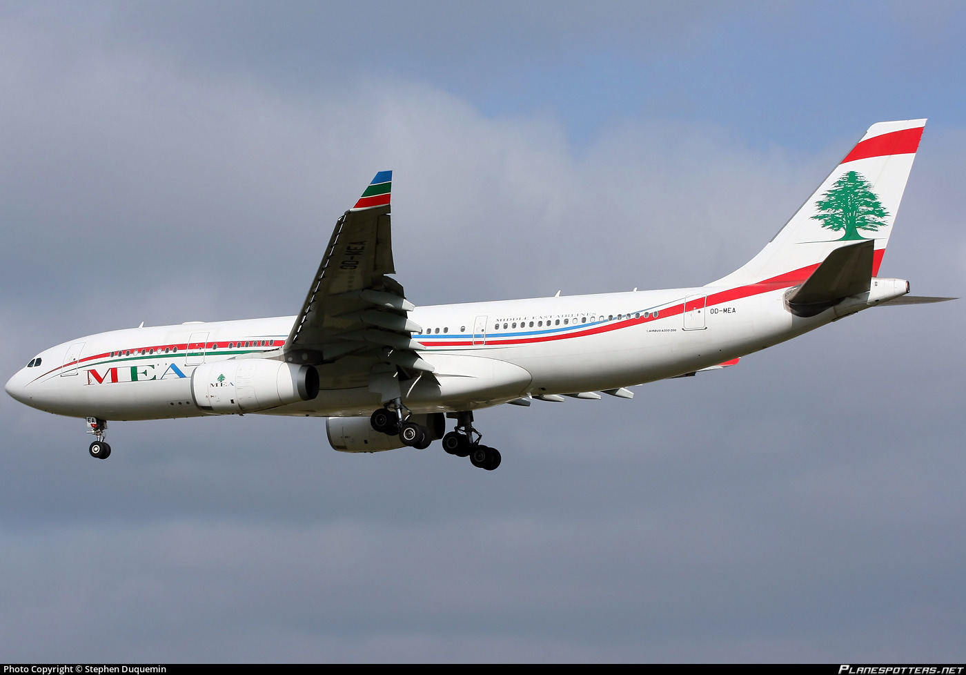 MEA Middle East Airlines - Airbus A330-200 (OD-MEA) airplane OD