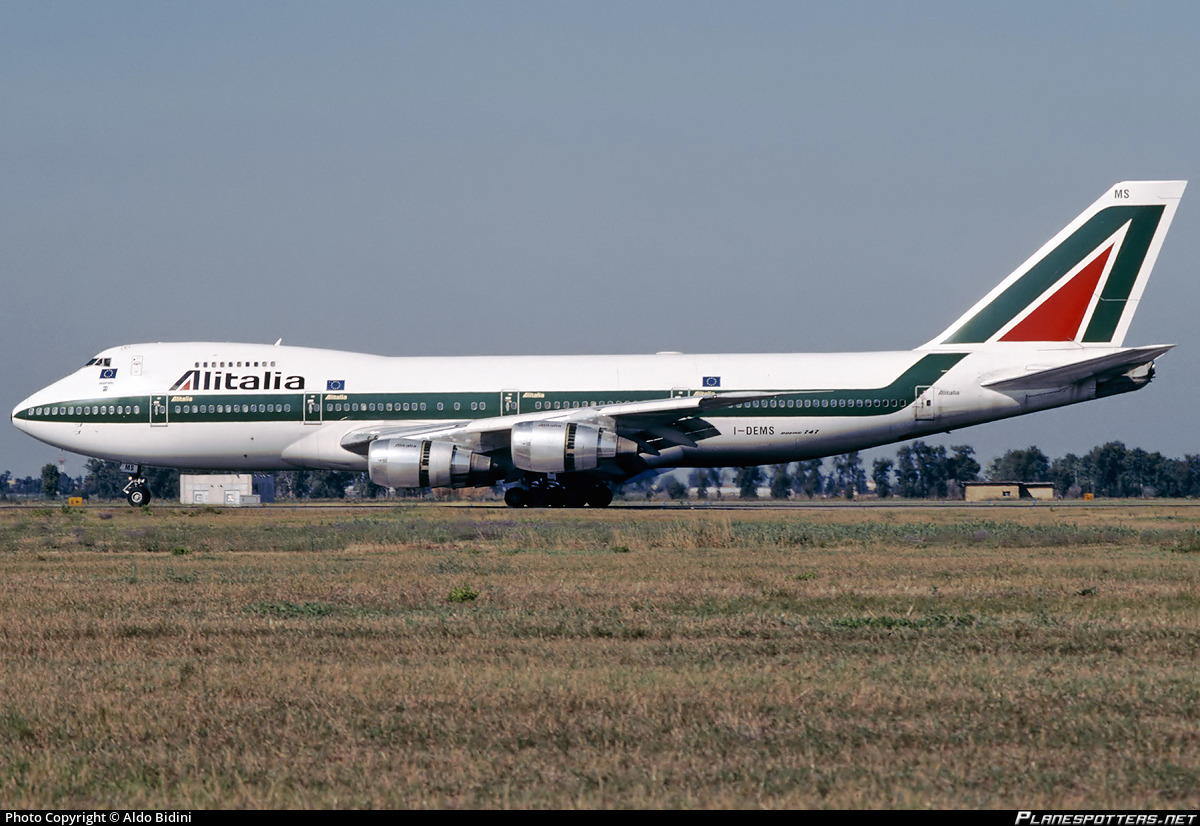 I-DEMS Alitalia Boeing 747-243B photographed at Rome Fiumicino (Leonardo da Vinci) (FCO / LIRF) by Aldo Bidini