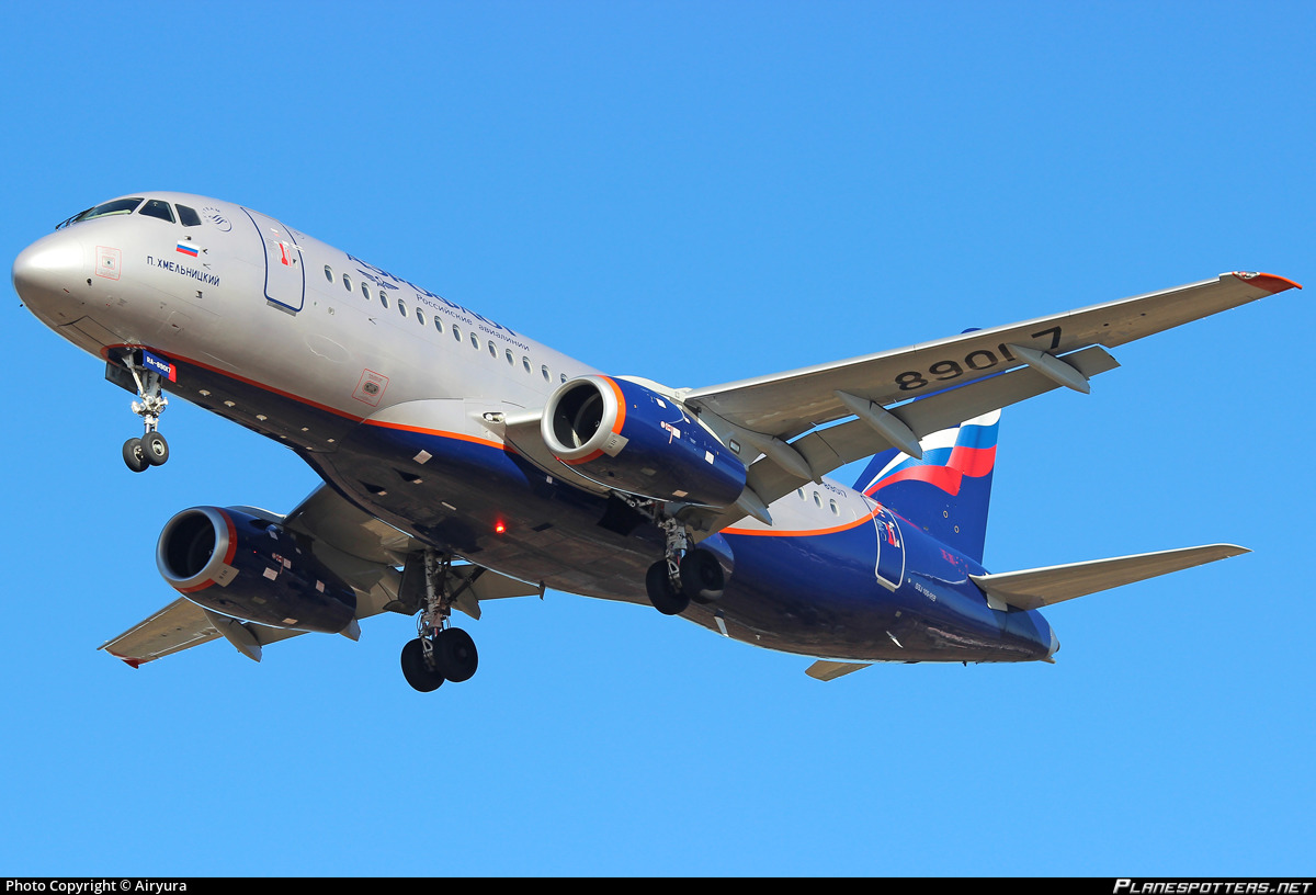 RA-89017 Aeroflot - Russian Airlines Sukhoi Superjet 100-95B photographed at Moscow Sheremetyevo (SVO / UUEE) by Airyura