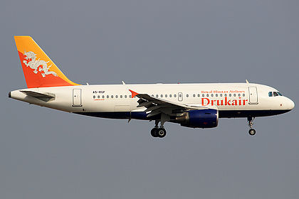 A5-RGF Druk Air - Royal Bhutan Airlines Airbus A319-115
