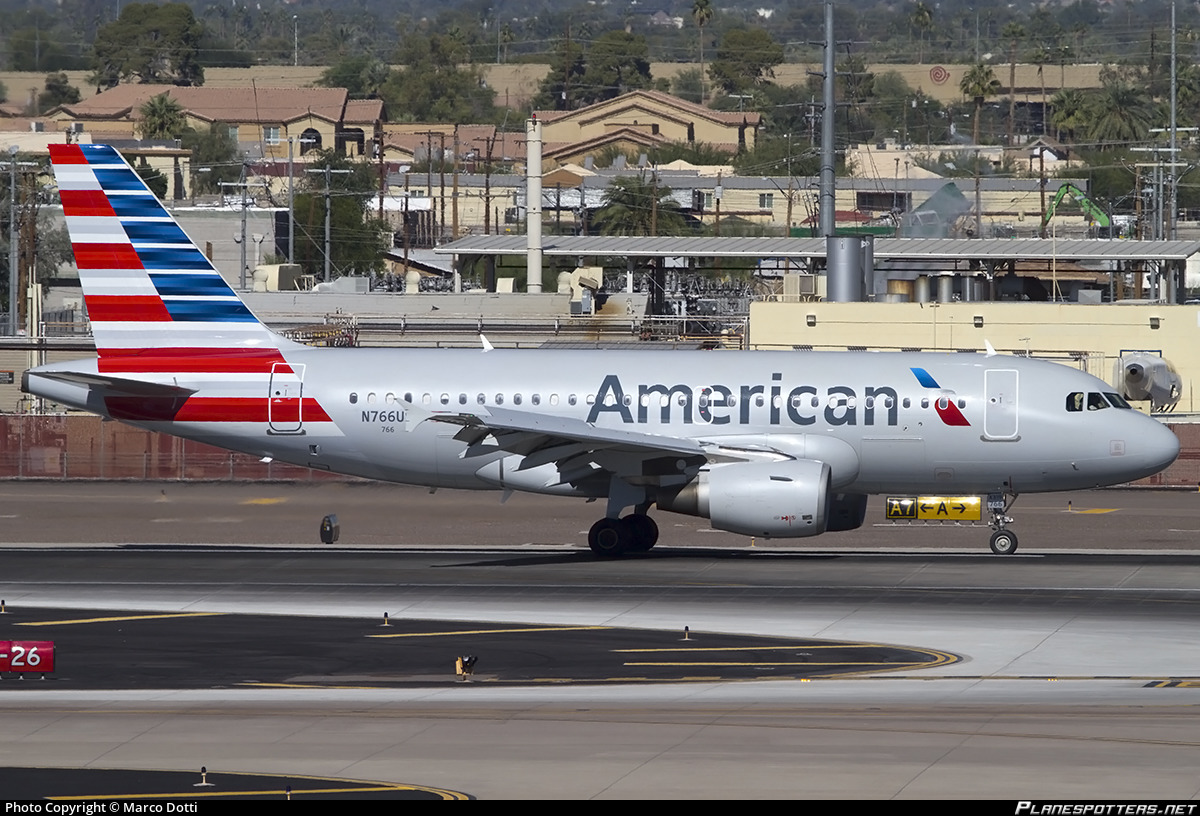 N766us American Airlines Airbus A319 112 Photo By Marco