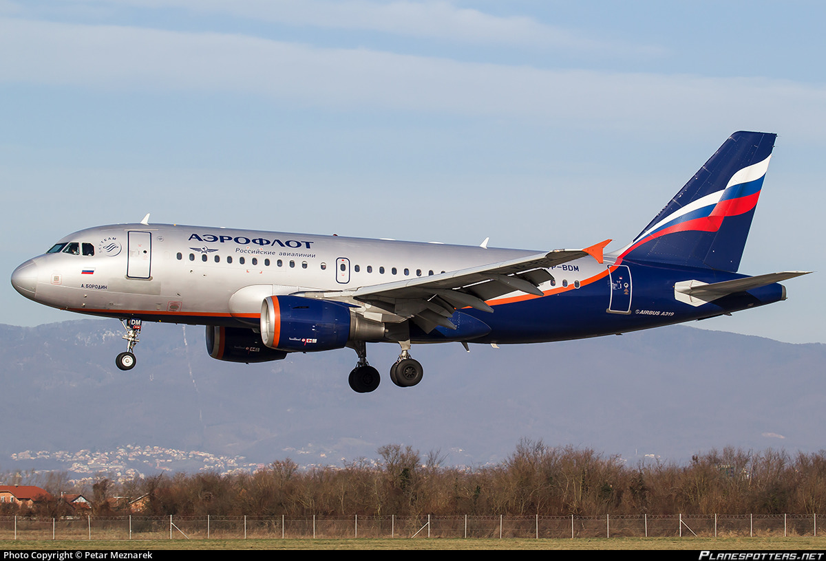 VP-BDM Aeroflot - Russian Airlines Airbus A319-111 photographed at Zagreb (ZAG / LDZA) by Petar Meznarek