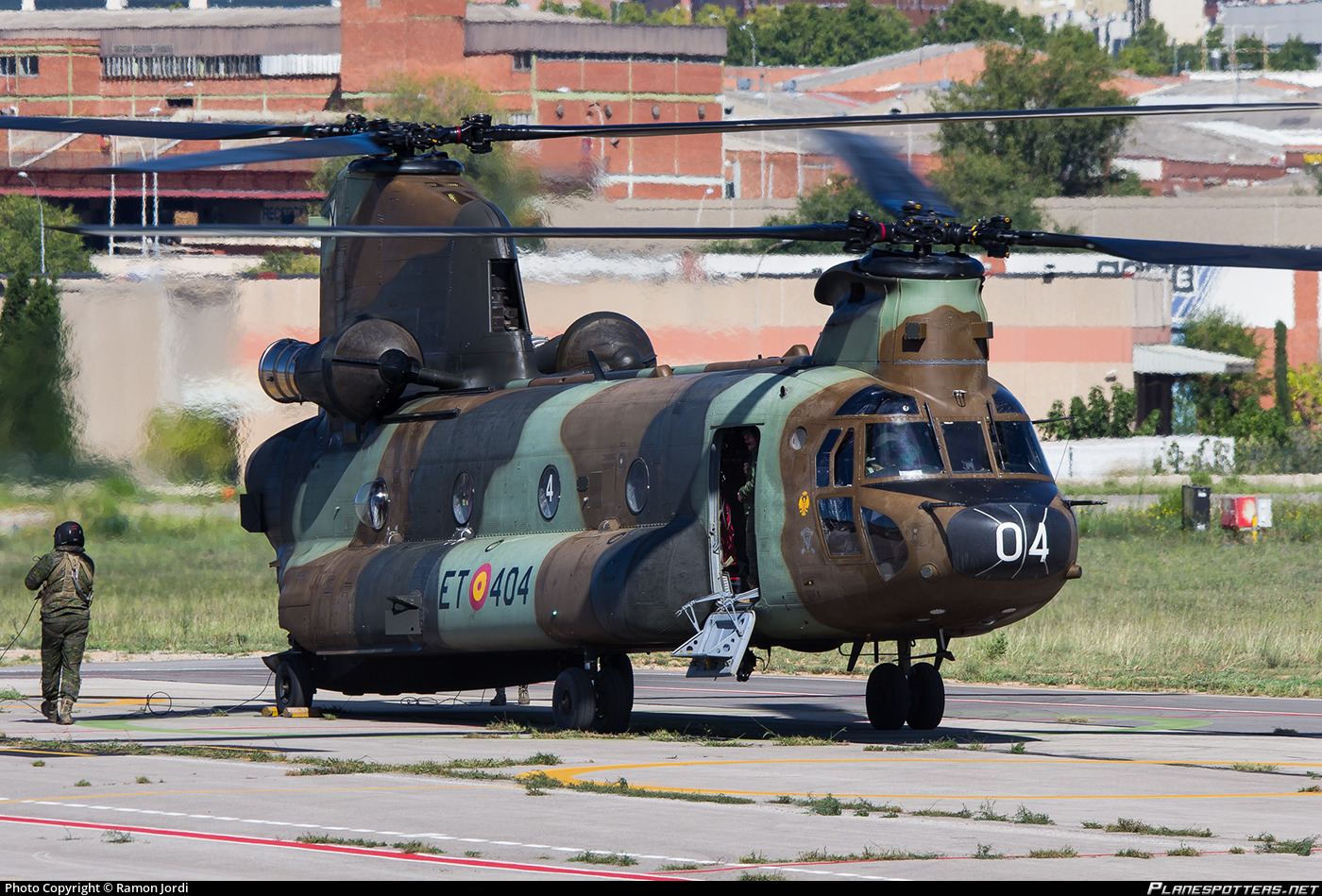 HT.17-04 Fuerza Aerea Española (Spanish Air Force) [AME], Spain Boeing CH-47D Chinook photographed at Sabadell (QSA / LELL) by Ramon Jordi