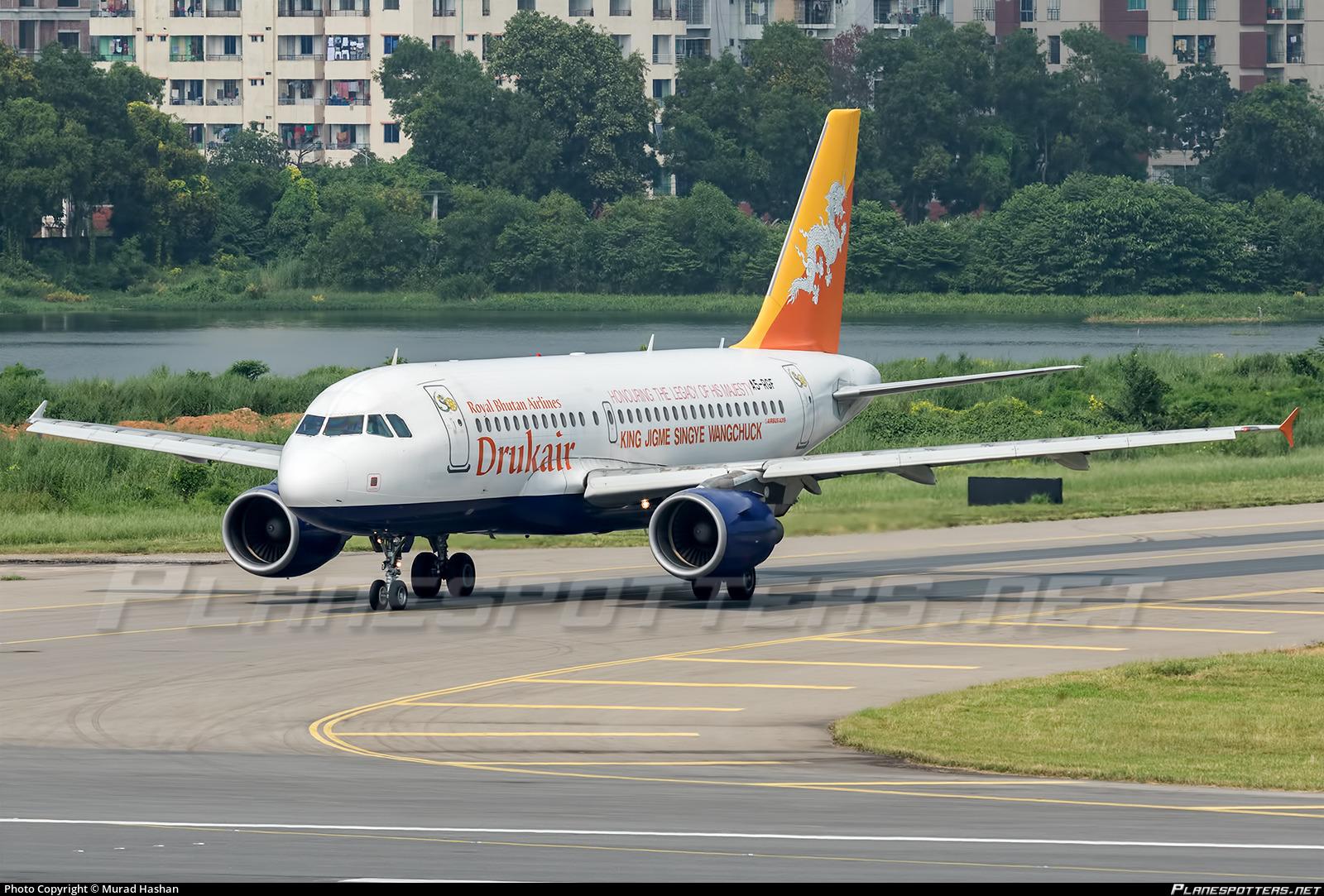 A5 Rgf Druk Air Royal Bhutan Airlines Airbus A319 115 Photo By