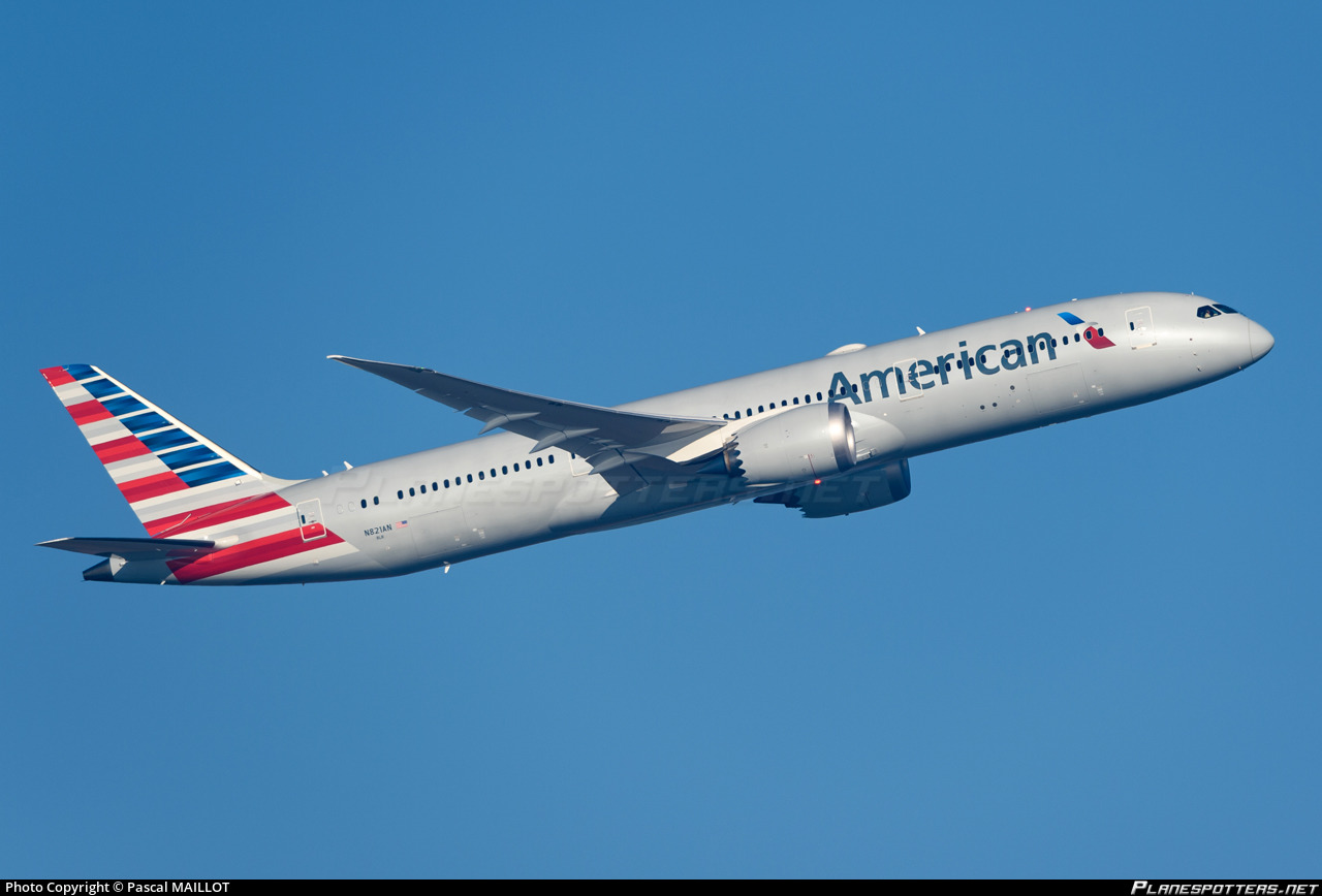 N821an American Airlines Boeing 787 9 Dreamliner Photo By
