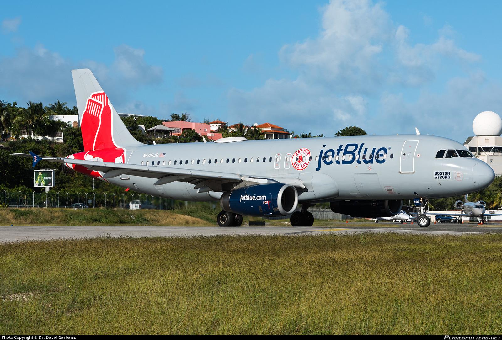 N605JB JetBlue Airways Airbus A320-232 photographed at Philipsburg / St. Maarten Princess Juliana International (SXM / TNCM) by Dr. David Garbaisz