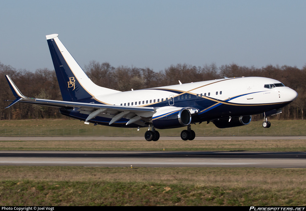 VP-BAJ Private Boeing 737-77Z(BBJ) photographed at Basle / Mulhouse / Freiburg Euro Airport (BSL / LFSB) by Joel Vogt