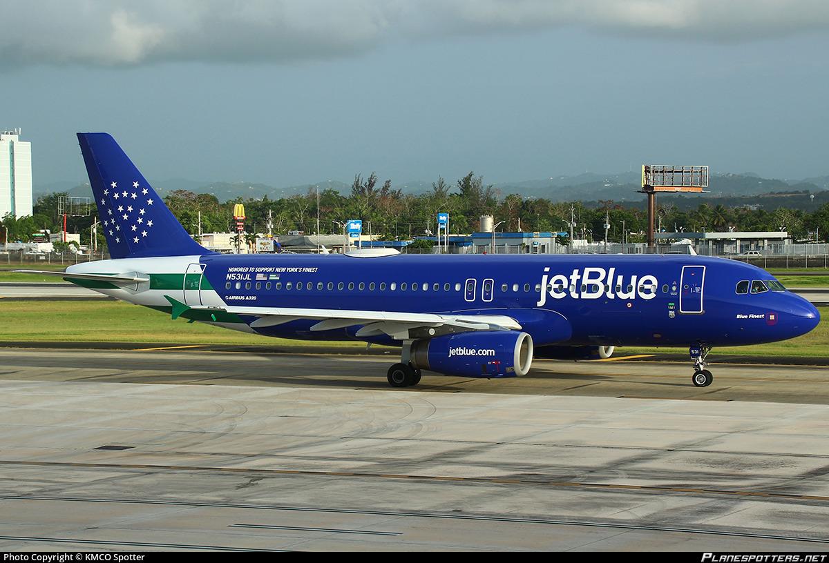 N531JL JetBlue Airways Airbus A320-232 photographed at San Juan Luis Muñoz Marín International (SJU / TJSJ) by Westley Bencon