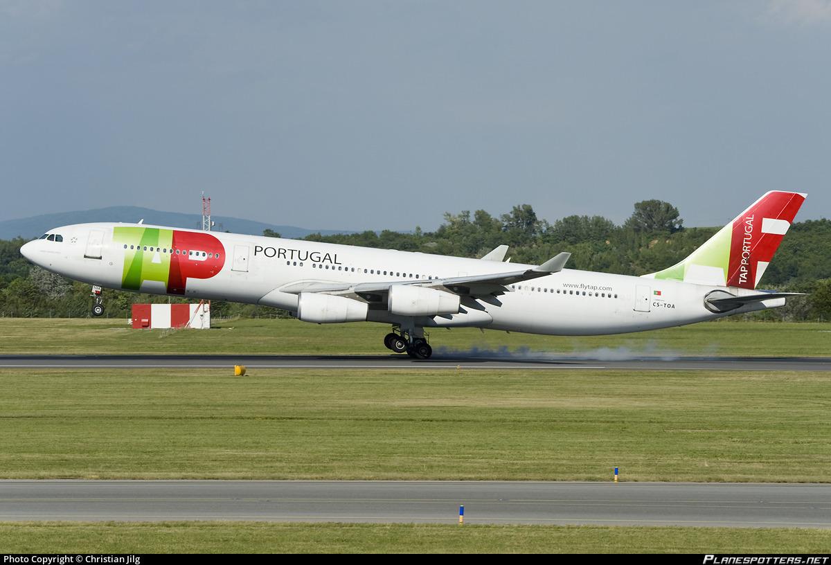 cs toa tap air portugal airbus a340 312 photo by christian jilg