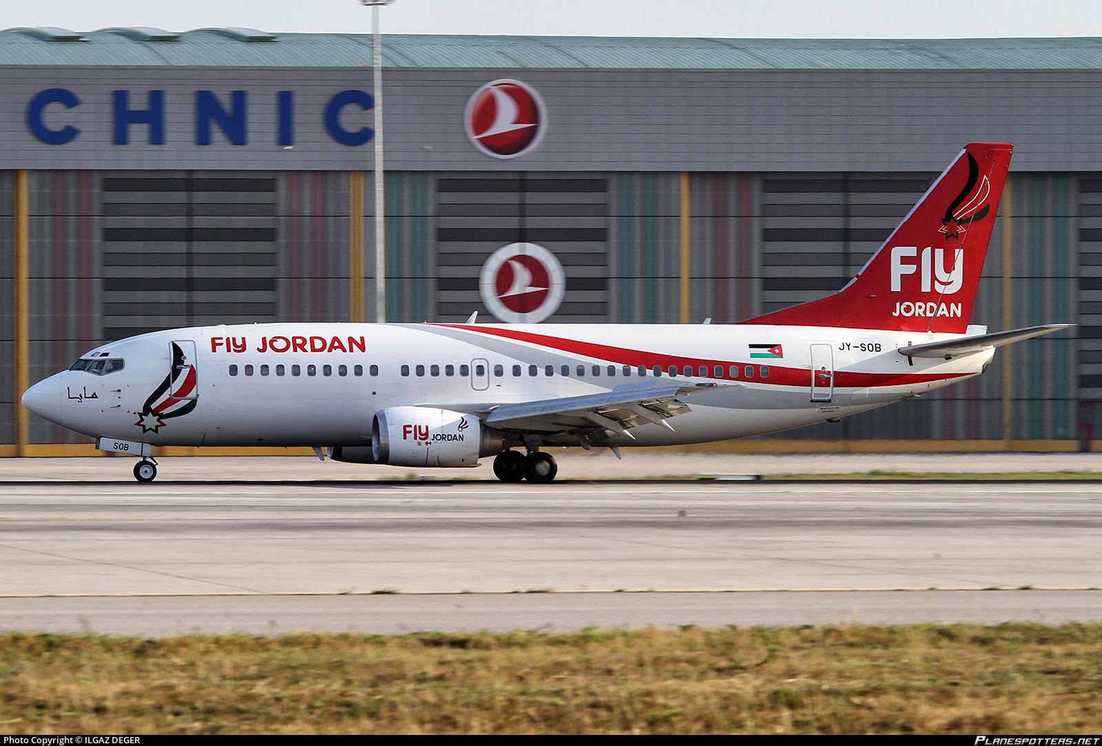 new style 342b5 4053e JY-SOB Fly Jordan Boeing 737-33V
