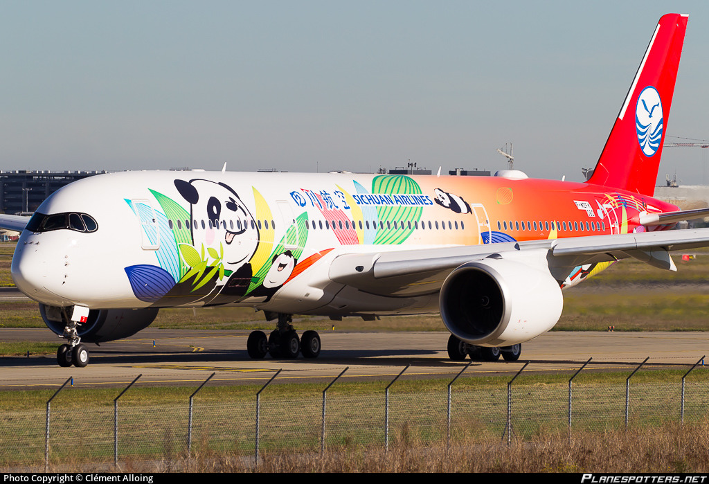 F-WZFK Sichuan Airlines Airbus A350-941 photographed at Toulouse Blagnac (TLS / LFBO) by Clément Alloing